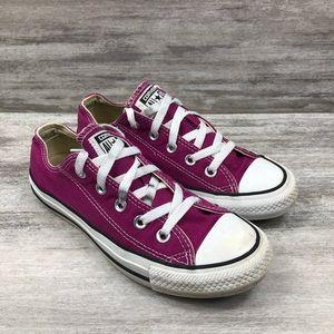 CONVERSE purple low top lace up sneaker